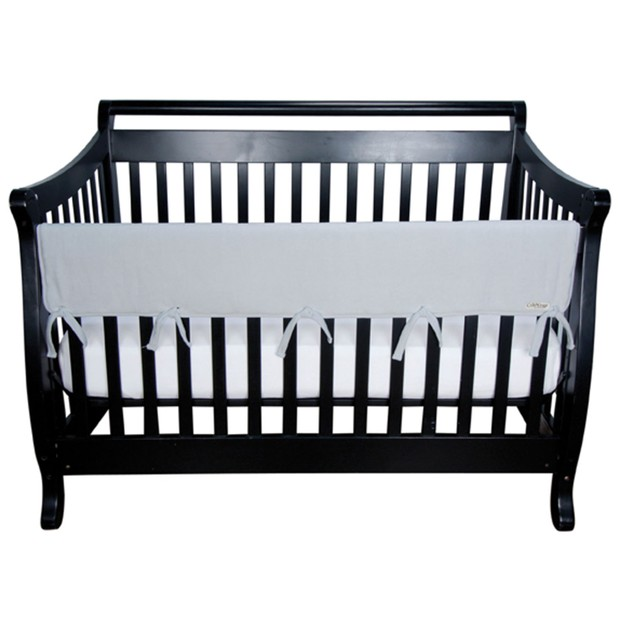 Trend-Lab Gray Fleece Cribwrap Wide Rail Cover For Crib Front/Back