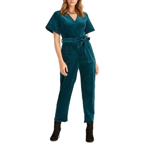 Rachel Rachel Roy Women's Ribbed Velvet Jumpsuit Blue Size 2