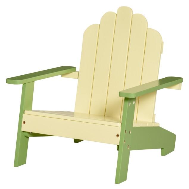 Pine Wood Children's Garden Lounger w/Sturdy & Solid Frame for Beach Garden
