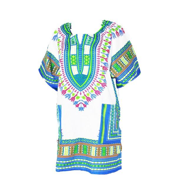 Unisex 100% Cotton Dashiki Top 2-Pockets -Plus Sizes Available