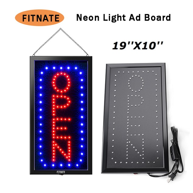 LED OPEN SIGN19X10INCHES BUSINESS OPEN SIGN AD BOARD ELECTRIC DISPLAY SIGN