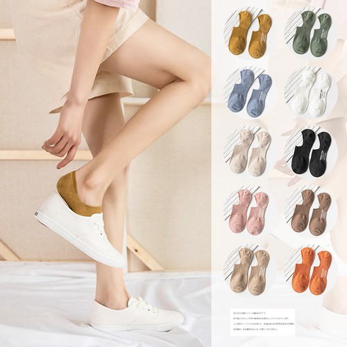 10-Pack Printed Rubber Anti-drop Heel Boat Socks