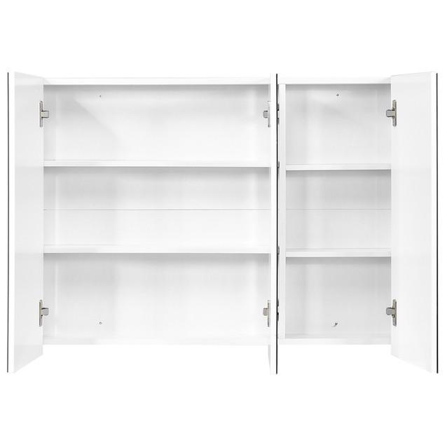 Costway 36'' Wide Wall Mount Mirrored Bathroom Medicine Cabinet Triple Mirr
