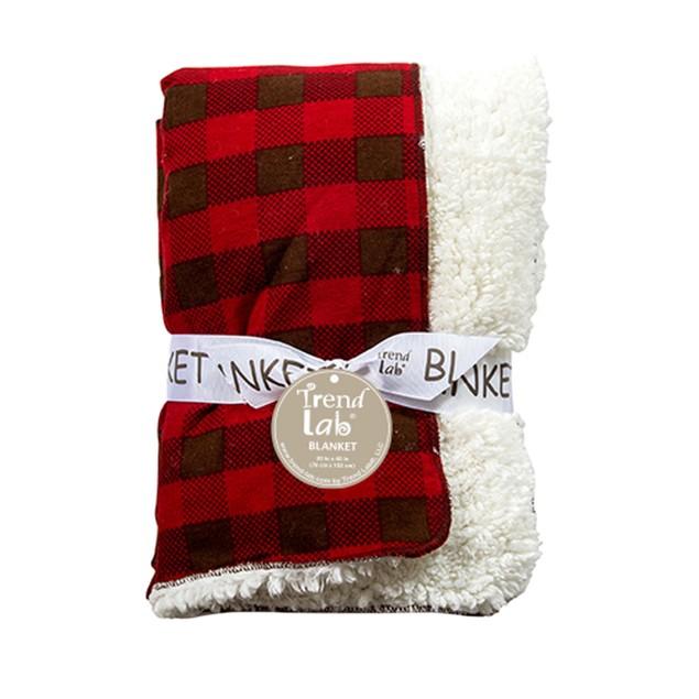 Trend-Lab Northwoods Faux Sherling Receiving Blanket