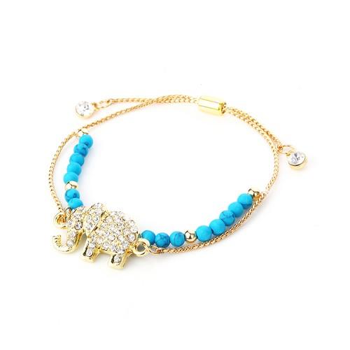 Novadab Proud Crystal Elephant-Shaped Designer Bracelet For Women