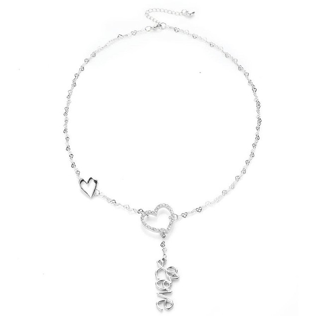 Novadab Love Heart Chain Necklace For Women