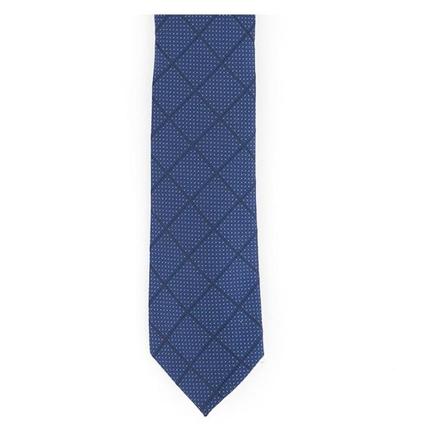 Alfani Men's Windowpane Tie Navy Size Regular