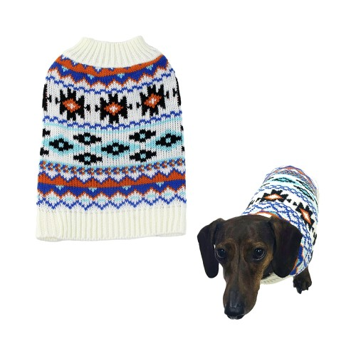 Midlee Aztec Dog Sweater