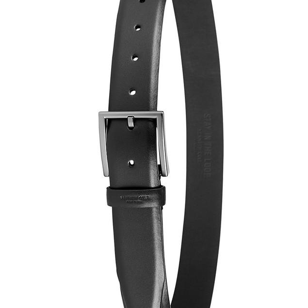 Kenneth Cole Reaction Men's Feather-Edge Dress Belt  Black Size Extra Large