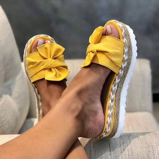 Casual Daily Comfy Bowknot Slip On Sandals