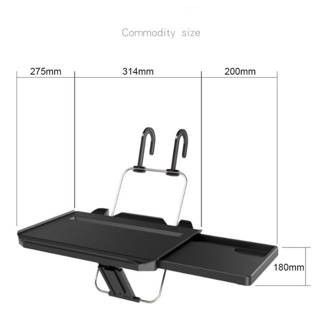 Drawer Type Car Desk Computer Table Dinner Plate With Card Slot