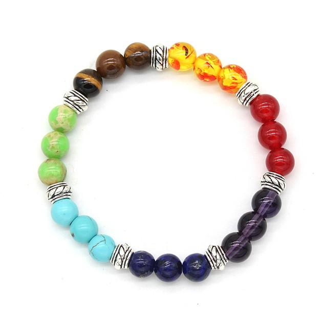 Genuine Gemstone Healing Chakra Bracelet