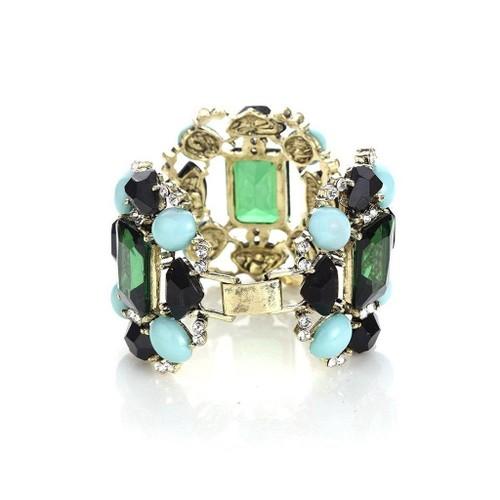 Novadab Quadrilateral Crystal Trio Style-Inspired Epoch Women Bracelet