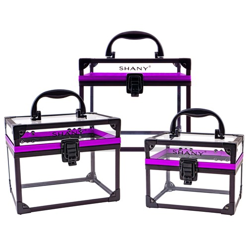 SHANY Clear Cosmetics and Toiletry Train Case