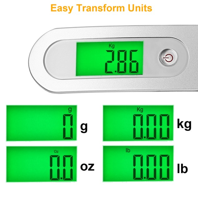 Portable Digital Luggage Scale 50kg/10g LCD Hanging Luggage Scale