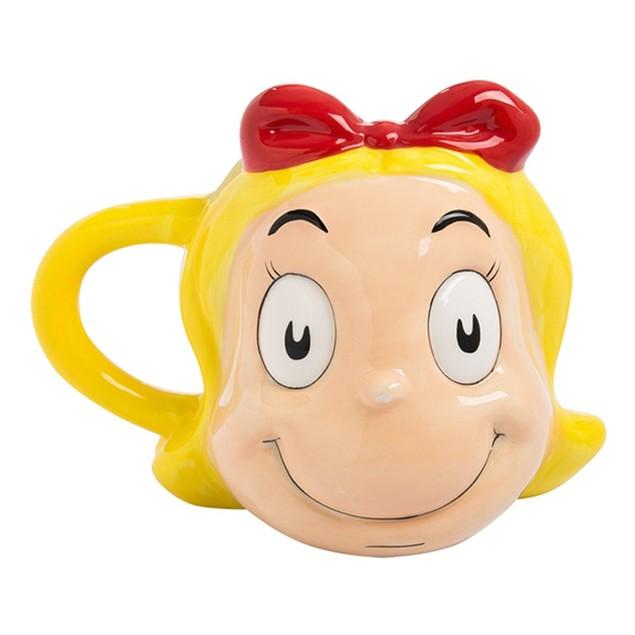 Dr. Seuss The Grinch Cindy Lou Who Sculpted Ceramic Mug