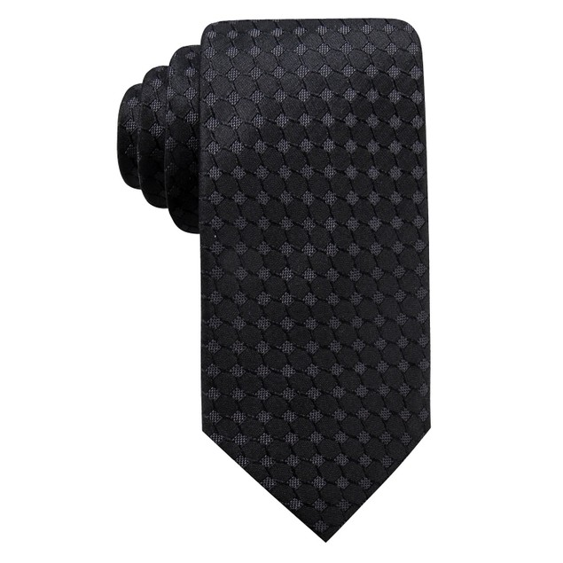 Ryan Seacrest Distinction Men's Boysen Slim Geo Silk Tie Blue Size Regular