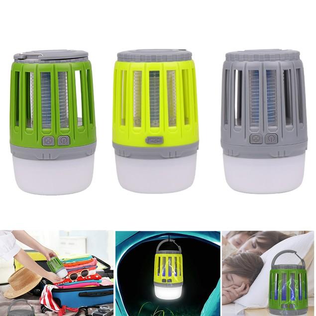 3-in-1 Waterproof Lantern Bug Zapper with 1800mAh Rechargeable Battery