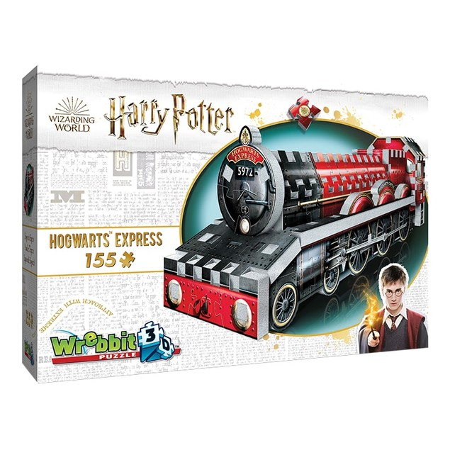 Wrebbit 3D Harry Potter Mini Hogwarts Express Jigsaw Puzzle - 155 Pieces
