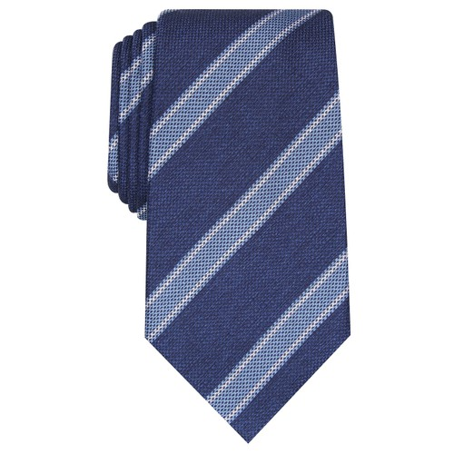 Tasso Elba Men's Classic Stripe Silk Tie Navy Size Regular