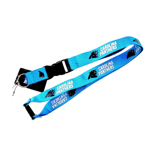 NFL Lanyard Keychain Batch Id Holder Carolina Panthers - Blue