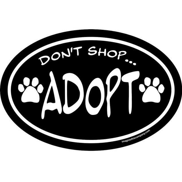 Don't Shop Adopt Magnet