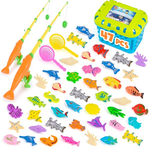 Zummy Magnetic Fishing Pool Toys Game for Kids ( 46 -Piece )