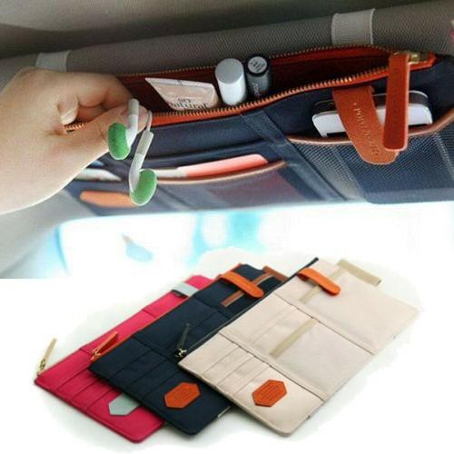 Multipurpose Organizer for Car Sun Visors Bag- Assorted Colors