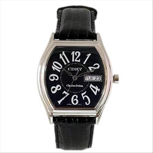 Charles Delon Men's Watches 2771 GLBB Black/Silver Leather Quartz Other Analog