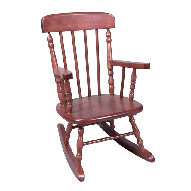 Gift Mark Deluxe Child's Spindle Rocking Chair (Cherry)