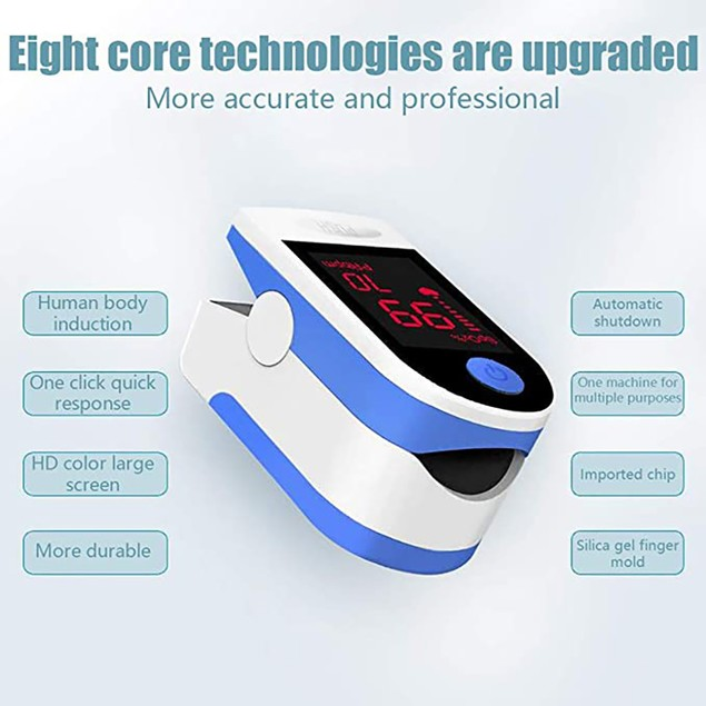 Finger Pulse Oximeter with Large OLED Display