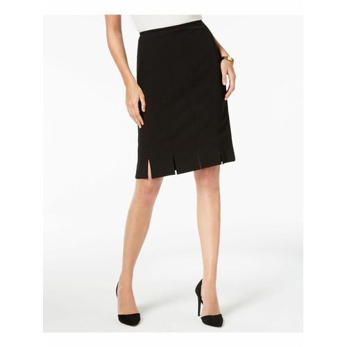 Kasper Women's Pleated Pencil Skirt Black Size 4