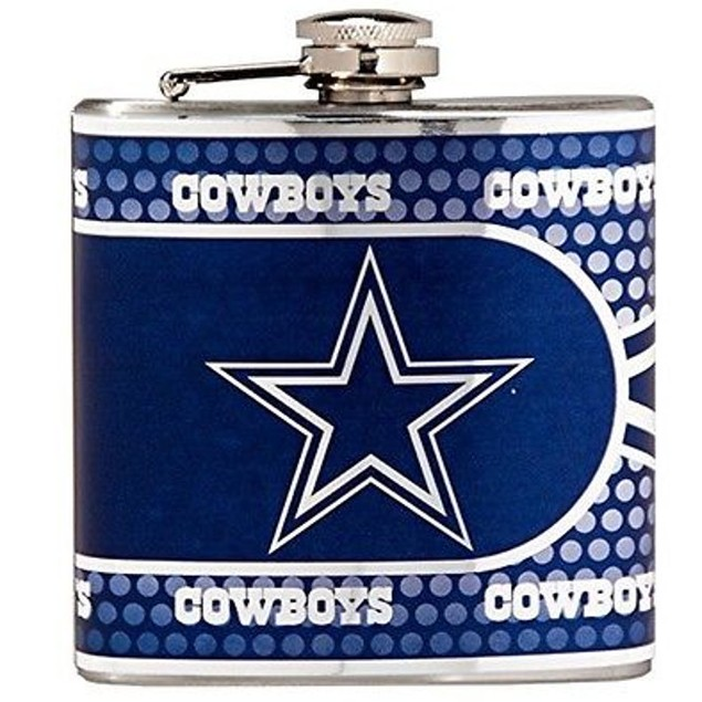 Dallas Cowboys Stainless Steel 6 Oz. Flask With Metallic Graphics