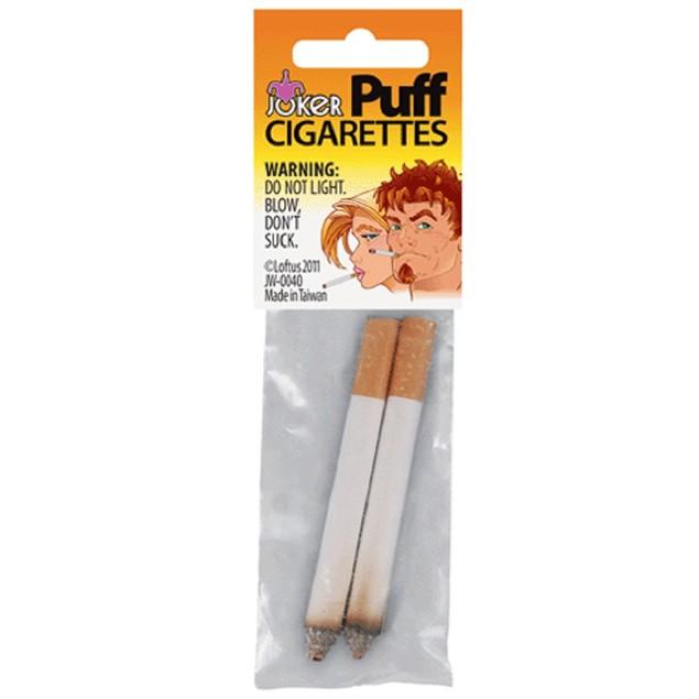 Puff Cigarettes 2 Pack Smoke Smoking Fake Magic Joke Trick Stage Prop Prank