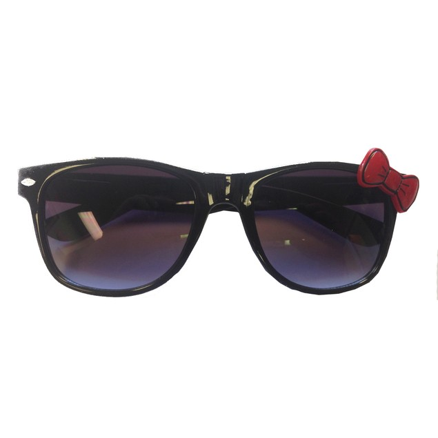 Black Sunglasses With Red Bow Hello Kitty Nerd Accessory Adult