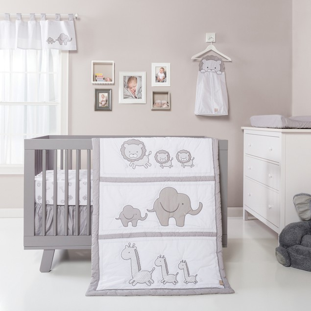 Trend Lab Safari Chevron Crib Bedding Set - 3 Piece