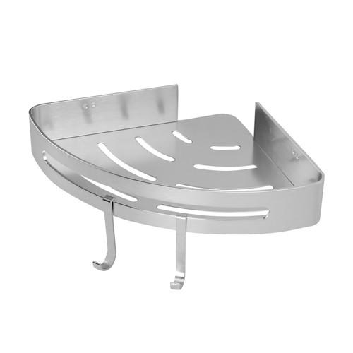 Adhesive Corner Shower Caddy   MandW 1 Tier