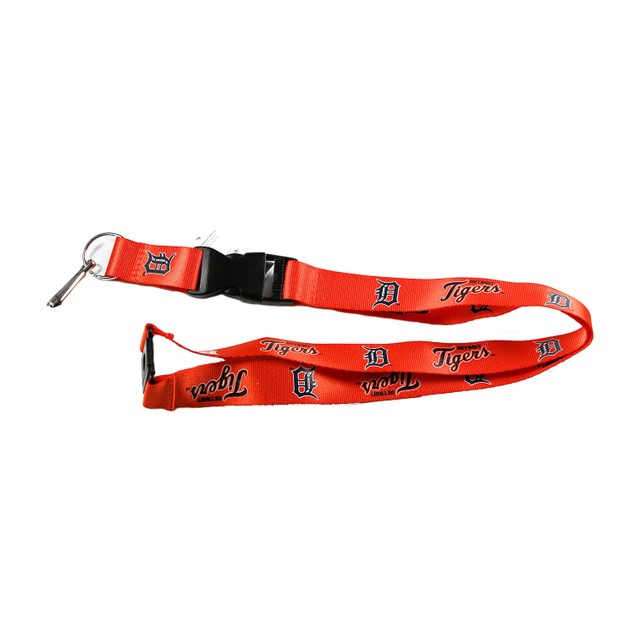 Detroit Tigers Clip Lanyard Keychain Id Holder Ticket - Orange