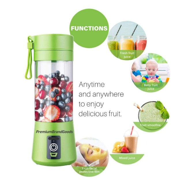 Personal Portable Juice Blender Best for ON-THE-GO Drinks/Smoothies! (Color May Vary)