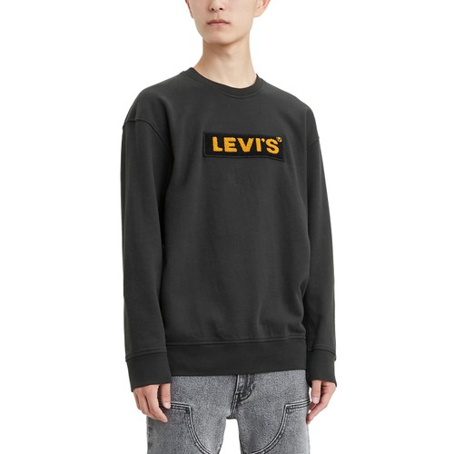 Levi's Men's Limited Collection Chenille Boxtab Sweatshirt Black Size Small