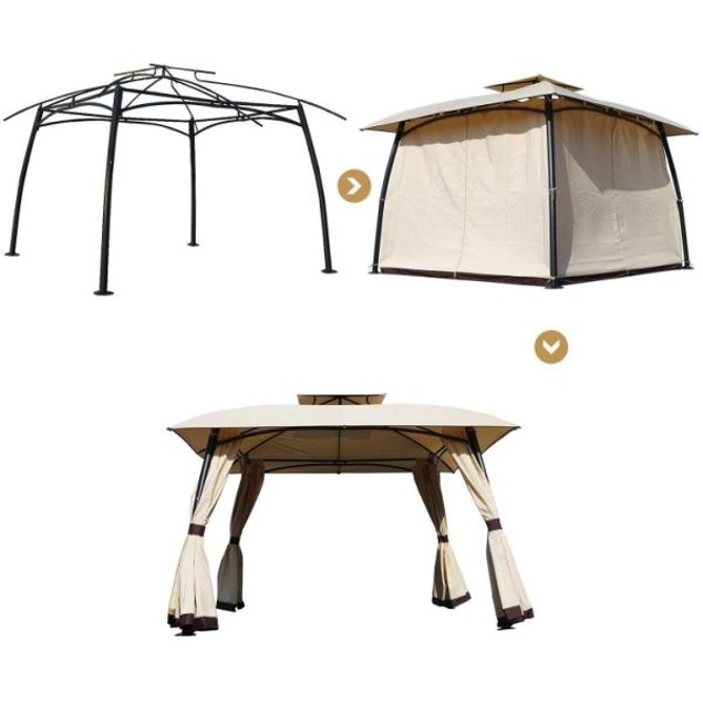 Outdoor Pop-Up 11' x 11' Gazebo Tent With Carry Bag