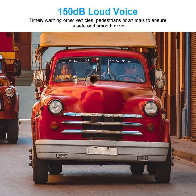 150dB Loud Single Car Trumpet 12V Electric Air Horn Compressor Kit