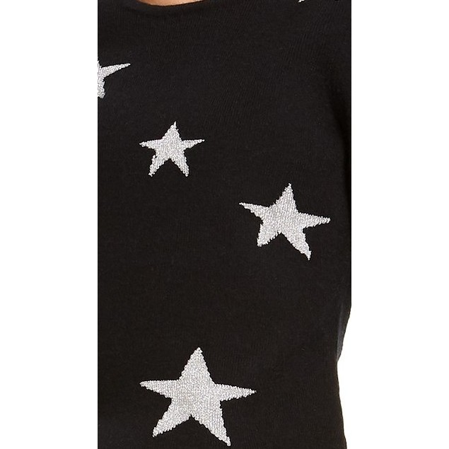INC International Concepts Women's Star Pullover Sweater Black Size Large