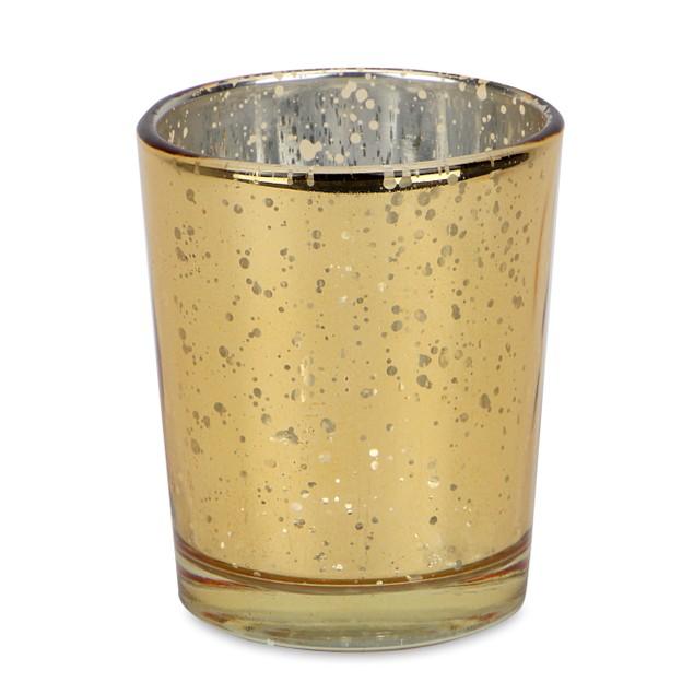 Set of 12 Speckled Tealight Candle Holders | MandW Gold