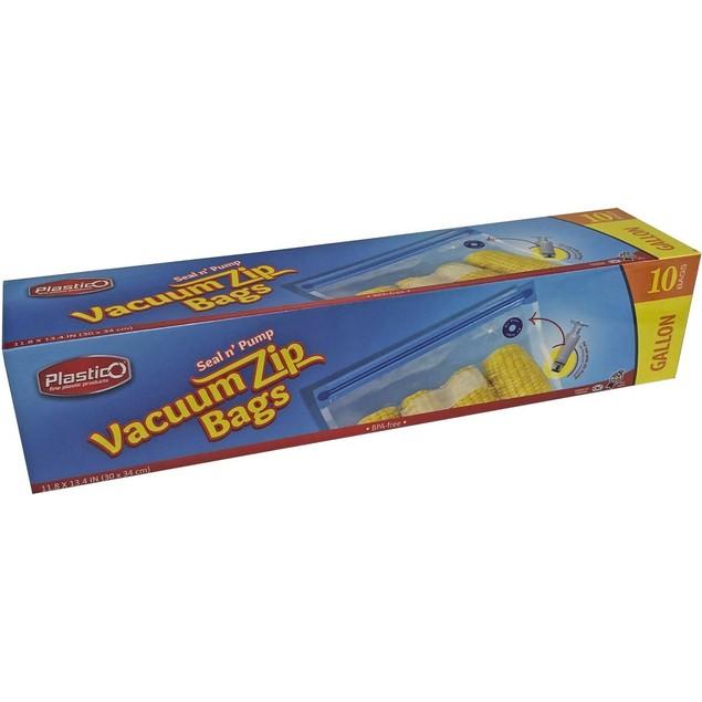 55 ct -  Plastico Vacuum Zip Bags Combo Pack