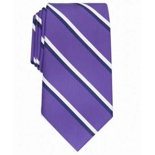 Club Room Men's Classic Stripe Tie Purple Size Regular
