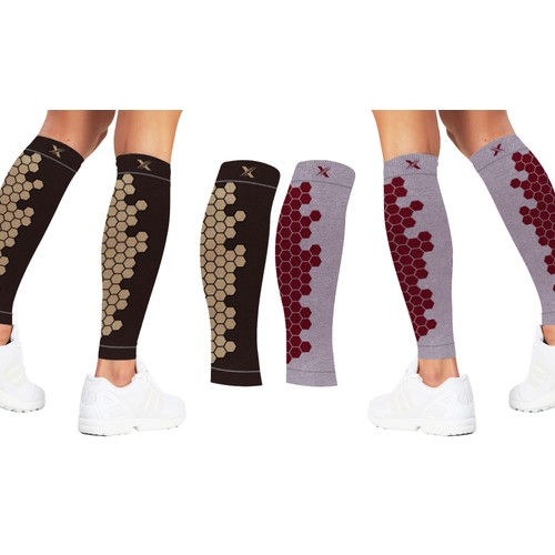Copper Infused High Performance Compression And Support Calf Sleeves