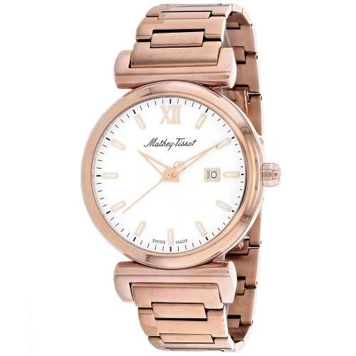 Mathey Tissot Men's White Dial Watch - H410PI