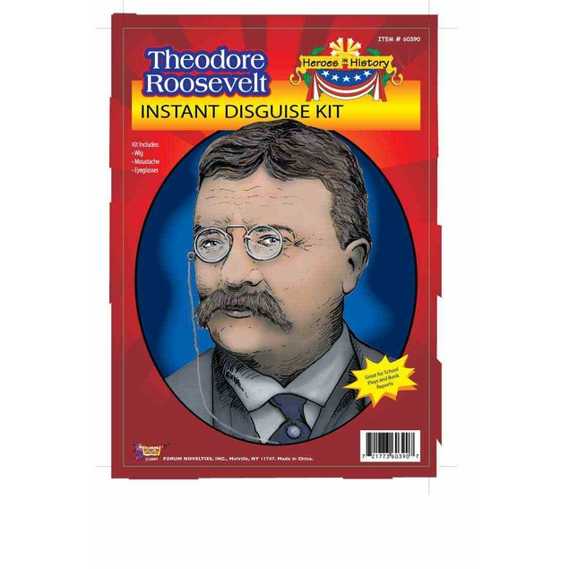 Theodore Roosevelt Costume Kit Teddy Wig Mustache President Night At Museum