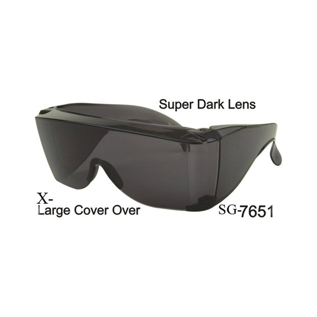 Oversized Dark Lens With Side Shield Sunglasses